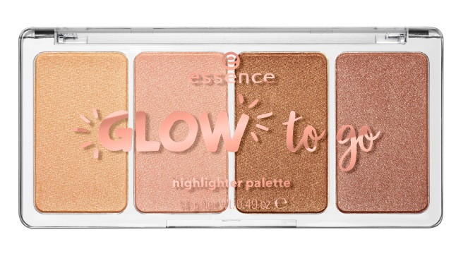 essence glow to go highlighter palette 10